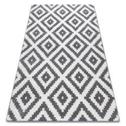 Koberec SKETCH - F998 - Čtverce, bílo-šedý