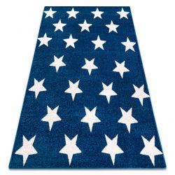 Dywan SKETCH - FA68 niebiesko/biały - Gwiazdki Gwiazdy