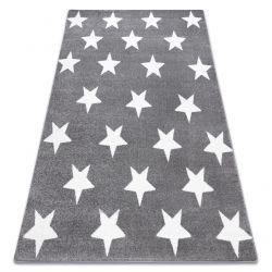 Tapis SKETCH - FA68 gris et blanc - Petites étoiles Étoiles