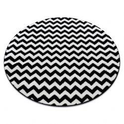 Alfombra SKETCH círculo - F561 negro/blanco - Zigzag