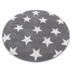 Alfombra SKETCH círculo - FA68 gris/blanco - Estrellitas Estrellas