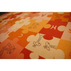 Ковер детский PUZZLE оранжевый