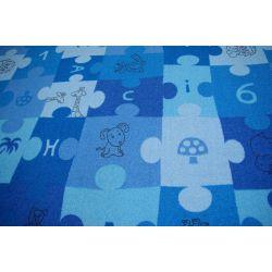 Covor copilăresc Puzzle albastru