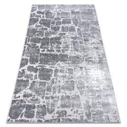 Dywan MEFE nowoczesny 6184 Kostka brukowa cegła - Strukturalny, dwa poziomy runa ciemnoszary