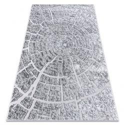 Moderní MEFE koberec 6185 Pařez stromu - Strukturální, dvě úrovně rouna šedá
