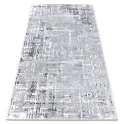 Moderní MEFE koberec 8722 Pásy vintage - Strukturální, dvě úrovně rouna šedá / bílá
