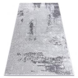 Dywan MEFE nowoczesny 8731 Przecierany vintage - Strukturalny, dwa poziomy runa szary