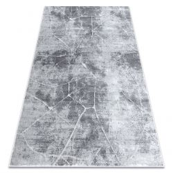 Modern MEFE Teppich 2783 Marmor - Strukturell zwei Ebenen aus Vlies grau