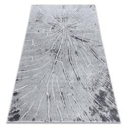 Modern MEFE Teppich 2784 Baum Holz - Strukturell zwei Ebenen aus Vlies grau