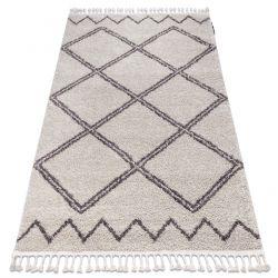 Carpet BERBER ASILA B5970 cream / brown Fringe Berber Moroccan shaggy