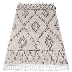 Teppich BERBER FEZ G0535 sahne / braun Franse berber marokkanisch shaggy zottig