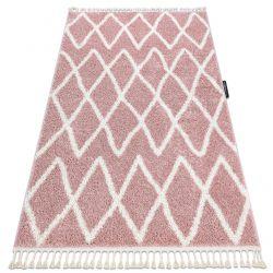 Szőnyeg BERBER BENI rózsaszín Rojt shaggy bozontos