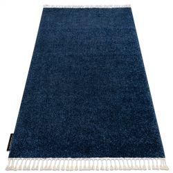 Teppich BERBER 9000 dunkelblau Franse berber marokkanisch shaggy
