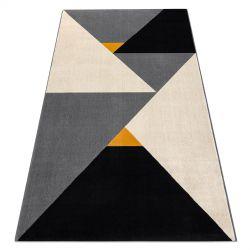 Covor Scandi 18464672 - Triunghiuri geometric gri cremă negru