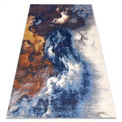 Soft szőnyeg 8390 ABSZTRAKCIÓ, FELHŐ kék / szürke / réz