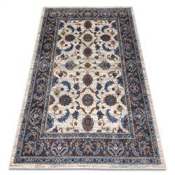Carpet SOFT 6019 FLOWERS FRAME beige / blue / red