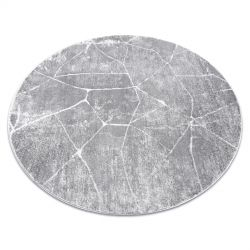Modern MEFE carpet Circle 2783 Marble - structural two levels of fleece grey