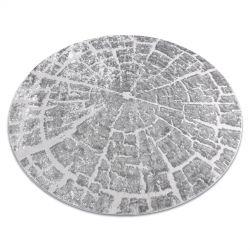 Dywan MEFE nowoczesny Koło 6185 Pień drzewo drewno - Strukturalny, dwa poziomy runa szary