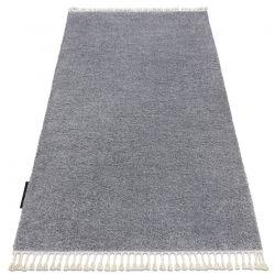 Tapis BERBER 9000 gris clair Franges berbère marocain shaggy
