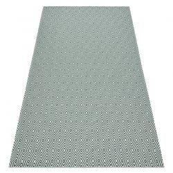 Fonott Sizal CASA Eco szőnyeg boho gyémánt 21844 sárga / zöld, újrahasznosított szőnyeg
