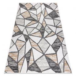 Koberec SISAL COOPER Mozaika 22208 ecru / čierna