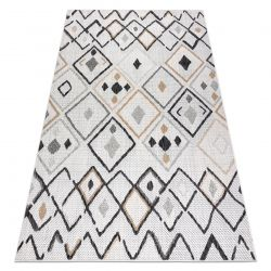Carpet SISAL COOPER Diamonds, Zigzag 22236 ecru / black
