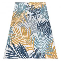 Carpet SISAL COOPER Palm leaves, tropical 22258 ecru / navy