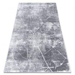 Modern MEFE matta 2783 Marble - strukturella två nivåer av hudna mörkgrå