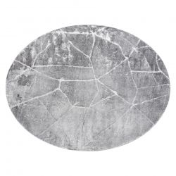 Modern MEFE carpet Circle 2783 Marble - structural two levels of fleece dark grey