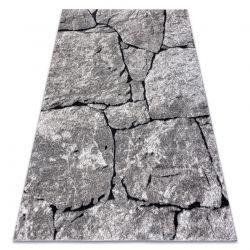 Modern Teppich COZY 8985 Brick Pflasterung Backstein, Stein - Strukturell zwei Ebenen aus Vlies grau