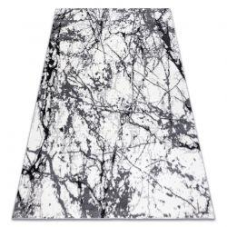 Modern Teppich COZY 8871 Marble, Marmor - Strukturell zwei Ebenen aus Vlies grau