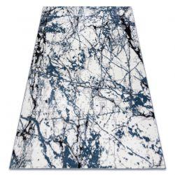 Modern Teppich COZY 8871 Marble, Marmor - Strukturell zwei Ebenen aus Vlies blau