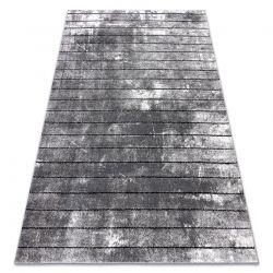 Modern Teppich COZY 8654 Raft, Linien - Strukturell zwei Ebenen aus Vlies grau