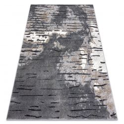 Modern COZY szőnyeg 8876 Rio - Structural két szintű gyapjú szürke