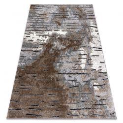 Modern Teppich COZY 8876 Rio - Strukturell zwei Ebenen aus Vlies braun