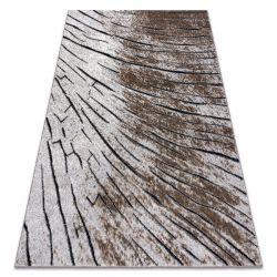 Dywan nowoczesny COZY 8874 Timber, Drzewo, drewno - Strukturalny, dwa poziomy runa brązowy