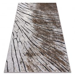 Modern COZY szőnyeg 8874 Timber, faipari - Structural két szintű gyapjú barna
