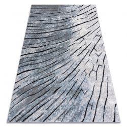 Dywan nowoczesny COZY 8874 Timber, Drzewo, drewno - Strukturalny, dwa poziomy runa szary / niebieski