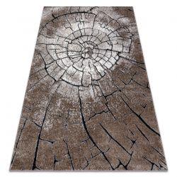 Modern Teppich COZY 8875 Wood, Baumstamm - Strukturell zwei Ebenen aus Vlies braun