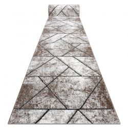 Chodnik COZY 8872 Wall, geometryczny, trójkąty - Strukturalny, dwa poziomy runa brązowy