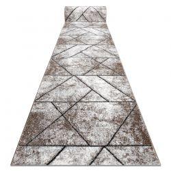 Modern Läufer COZY 8872 Wall, Geometrisch, Dreiecke - Strukturell zwei Ebenen aus Vlies braun