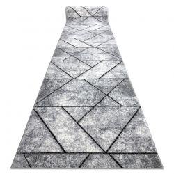 Moderní béhoun COZY 8872 Wall, geometrický, trojúhelníky - Strukturální, dvě úrovně rouna šedá / modrý