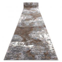 Modern COZY futó szőnyeg 8876 Rio - Structural két szintű gyapjú barna