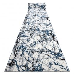 Modern COZY futó szőnyeg 8871 Marble, Márvány - Structural két szintű gyapjú kék