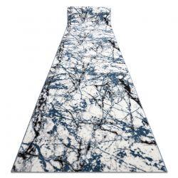 Modern Läufer COZY 8871 Marble, Marmor - Strukturell zwei Ebenen aus Vlies blau