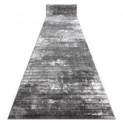 Chodnik COZY 8654 Raft, Linie - Strukturalny, dwa poziomy runa szary