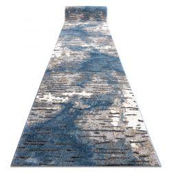 Modern Läufer COZY 8876 Rio - Strukturell zwei Ebenen aus Vlies blau