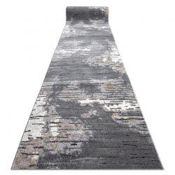 Modern Läufer COZY 8876 Rio - Strukturell zwei Ebenen aus Vlies grau
