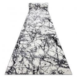 Modern Läufer COZY 8871 Marble, Marmor - Strukturell zwei Ebenen aus Vlies grau
