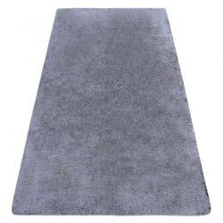 Moderní pratelný koberec LAPIN Shaggy, protiskluzový, černý, slonová kost